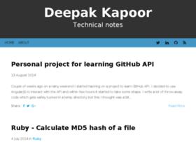 Deepakkapoor.com thumbnail