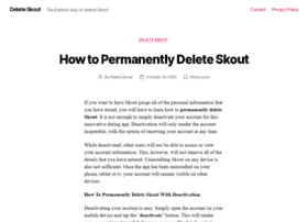 Delete skout account  How To Permanently Delete Skout  2019
