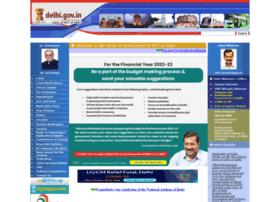 Delhigovt.nic.in thumbnail