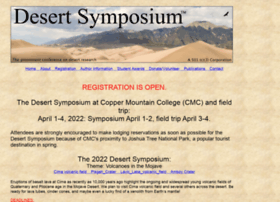 Desertsymposium.org thumbnail
