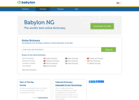 Dictionary.babylon-software.com thumbnail