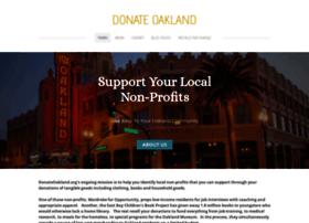 Donateoakland.org thumbnail