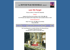 Doverwarmemorialproject.org.uk thumbnail