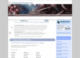 Dreams-dictionary.org thumbnail