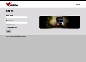 driversettlements.cardlog.com at WI. Log in - Cardinal Logistics ...