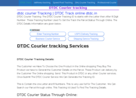 Dtdccouriertracking.co.in thumbnail