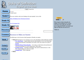 Dukeofdefinition.com thumbnail