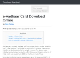 Eaadhaar.download thumbnail