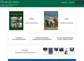 Ecoledeslettres.fr thumbnail