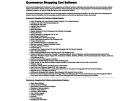 Ecommerceshoppingcartsoftware.org thumbnail