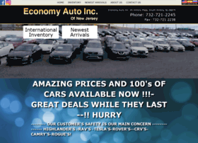 economynj.com at WI. Economy Auto In of New Jersey