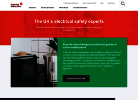 Electricalsafetyfirst.org.uk thumbnail