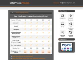 Eliteprivateproxies.com thumbnail