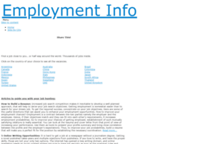 employment-info co za at WI  Employment Info