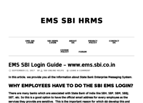 Ems-sbi-hrms.in thumbnail