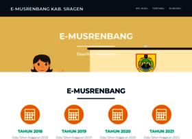 Emusrenbang.sragenkab.go.id thumbnail