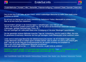 endegut.info at WI. Anleitung Suizid Ratgeber