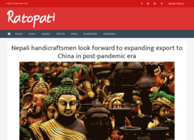 English Ratopati Com At Wi Home Ratopati No 1 Nepali News Portal Ratopati is a news website that is run by discovery news network based in kathmandu, nepal. website informer informer technologies inc