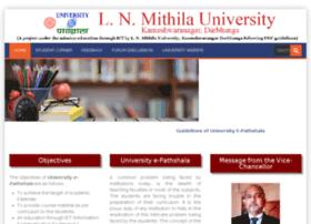 Epathshala.lnmu.ac.in thumbnail