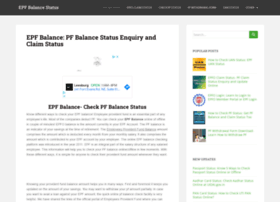 Epfbalancestatus.co.in thumbnail