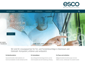 Esco-metallbausysteme.de thumbnail