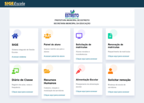Estreito.sigeescola.com.br thumbnail