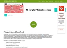 etisalatspeedtest.com at WI. Etisalat Speed Test - My Speed