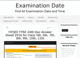 Examinationdate.in thumbnail