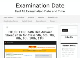 Examinationdate.in thumbnail