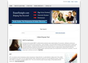 Examsample.com thumbnail