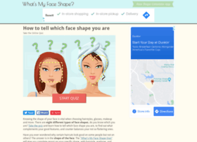 Face Shape Com At Wi What S My Face Shape Quiz Online