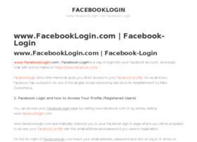 Com login ww facebook dot Sign In
