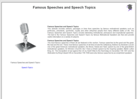 Famous-speeches-and-speech-topics.info thumbnail