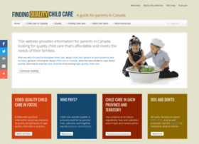 Findingqualitychildcare.ca thumbnail