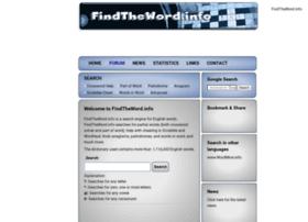 Findtheword.info thumbnail
