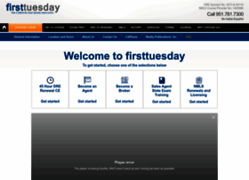 first tuesday  Real Estate Brokers License  Real Estate