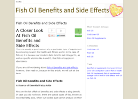 Potency fish benefits fish omegafish side effects for Side effects fish oil