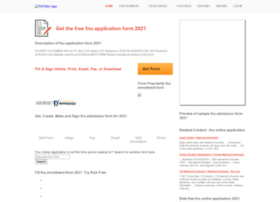 Fnu-application-form.pdffiller.com thumbnail