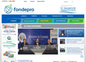 Fondepro.gob.sv thumbnail