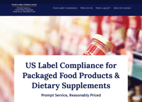 Foodlabelconsultants.com thumbnail