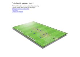 Footballidentity.com thumbnail