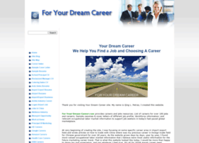 for-your-dream-career.com at WI. For Your Dream Career - We Help ...