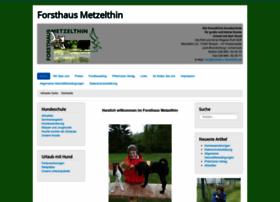 Forsthaus-metzelthin.de thumbnail