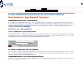 Free-backlinks.info thumbnail