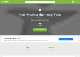 Free-myanmar-burmese-fonts.apponic.com thumbnail