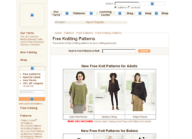 Freeknittingpatterns.lionbrand.com thumbnail