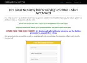 Free Robux Codes No Survey Emailed Freerobuxnosurvey Com At Wi Free Robux No Survey Guide For 2020 Robux Promo Codes