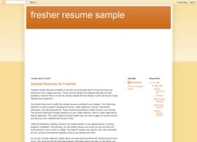 Fresher-resume-sample.blogspot.com thumbnail