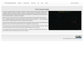 Fuzzing-project.org thumbnail