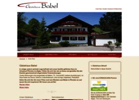Gaestehaus-babel-pfronten.de thumbnail